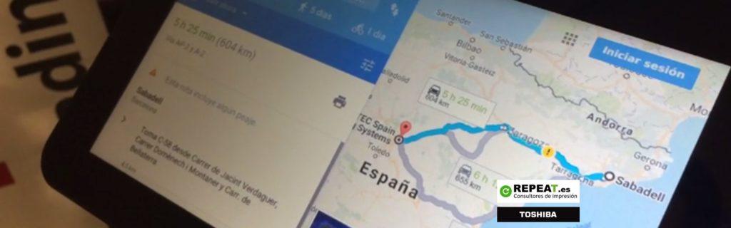 Google Maps en tu impresora